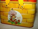 Strawberry Shortcake Picnic Basket 1980