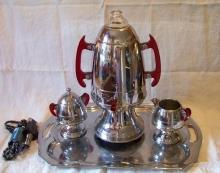 Coffee Pot Samovar Set by United Like New