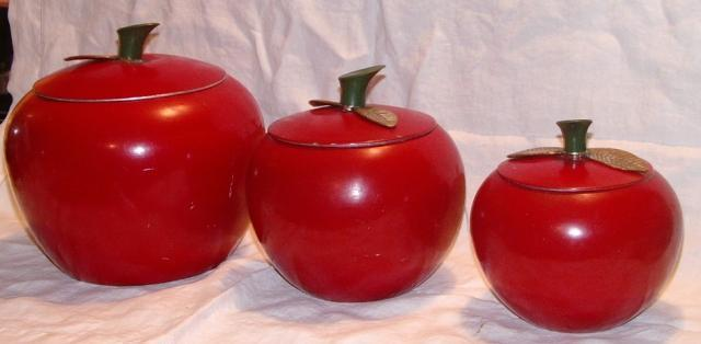 Red Apple Canisters Set of Three