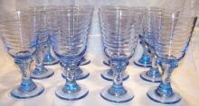 Libbey Sirrus Blue Goblets Set of 12