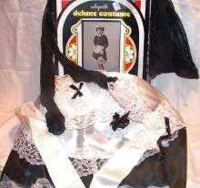 Vintage Masquerade Costume French Maid