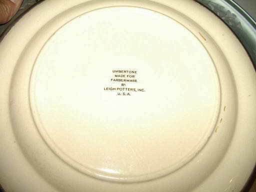 Farberware by Leigh Potteries Umbertone Serving