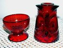 Owl Red Glass Fairy Light