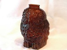 Owl Bank Brown Glass 6.5