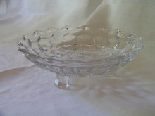 Fostoria American Clear Three Toed Dish