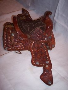 Miniature Western Saddle Salesman's Sample