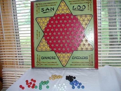 Vintage Chinese Checkers Complete Set by San