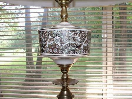 Retro Lamp Paisley Design