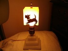 Vintage Scottie Dog Lamp 11 Inches Tall