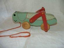 Vintage Pull Toy Grasshopper