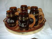 Siestaware 6 Mugs And Wooden Tray