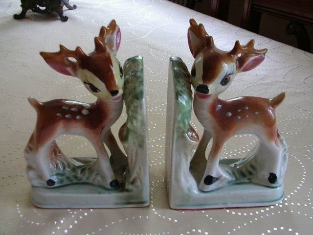 Deer Book Ends Made In Japan