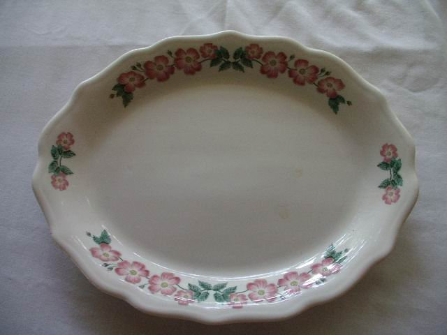 Syracuse China Pink Dogwood Platter