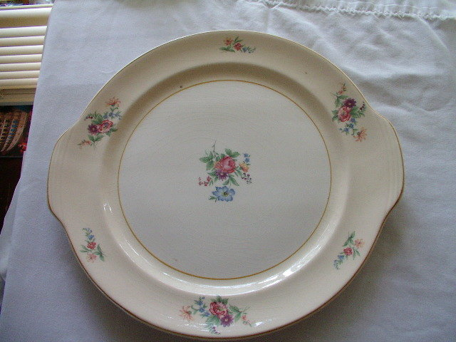 Round Floral Platter