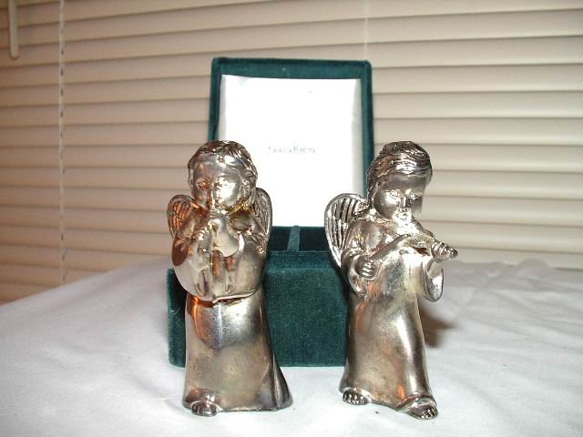 Godinger/Neiman Marcus Salt and Pepper Shaker Musical Angels