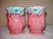 Japan Pink Vases Set of 2
