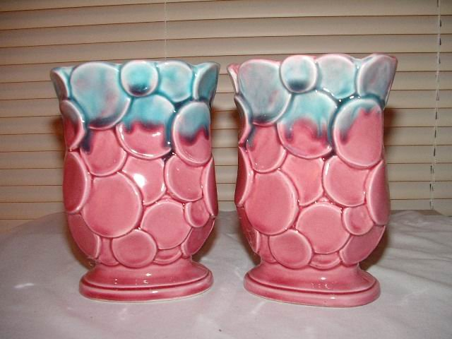 Japan Pink Vases Set of 2