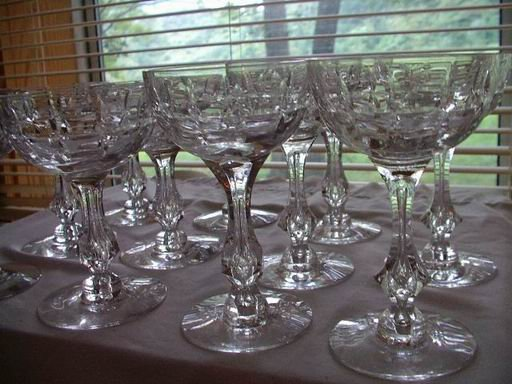 Crystal Stemware Champagne and Wine