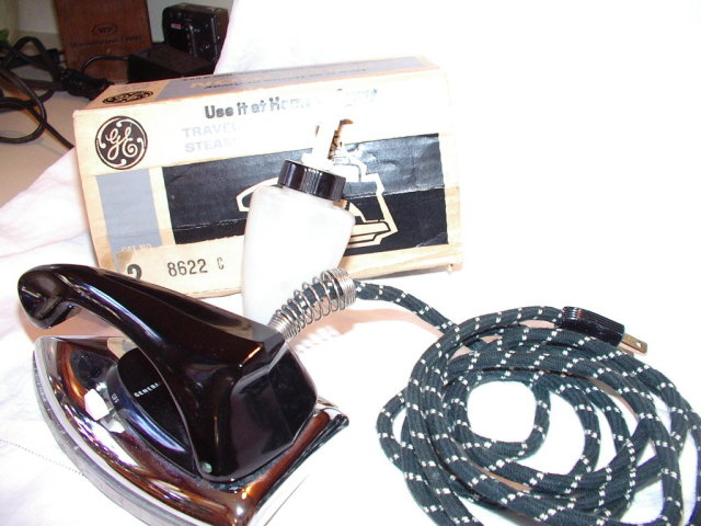 Vintage Travel Iron by G.E. Like New in Box
