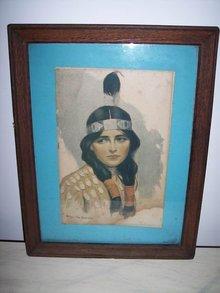 Indian Maiden Picture by Wm. Van Drinch