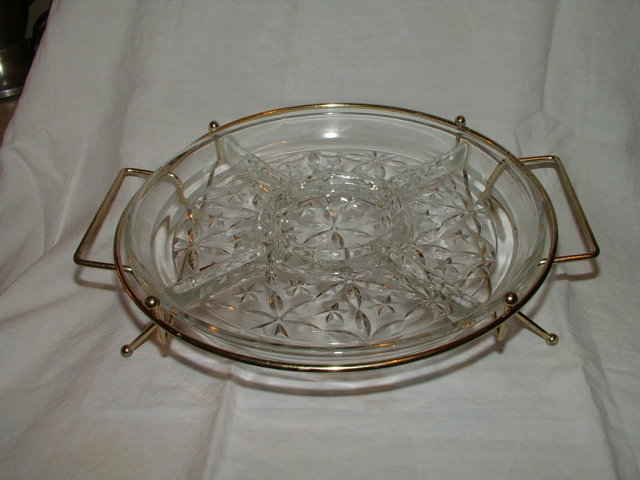 Vintage Divided Serving Dish in Tray 10