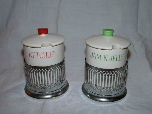 Japan Jam Jelly and Ketchup Jars