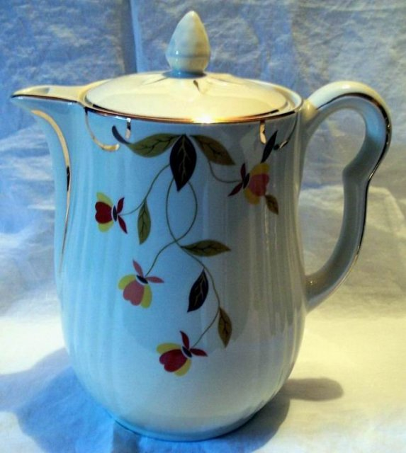 Hall Jewel Tea Autumn Leaf Coffee Pot