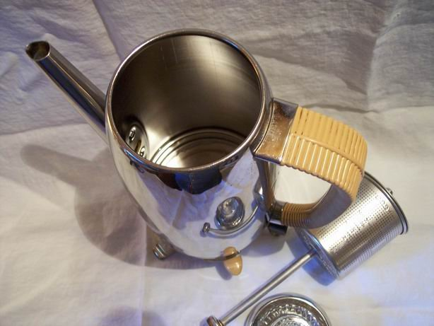 Vintage Cory Percolator with Bamboo Design