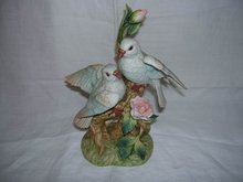 Gorham Gallery Birds Doves With Rose Blossoms