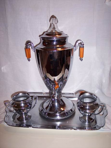 Vintage Electric Coffee Set by Forman Brothers