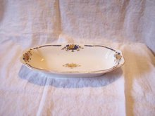 Serving Dish Blue and Yellow England
