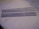 Glass Stir Sticks Set of Six 12 Inches Long