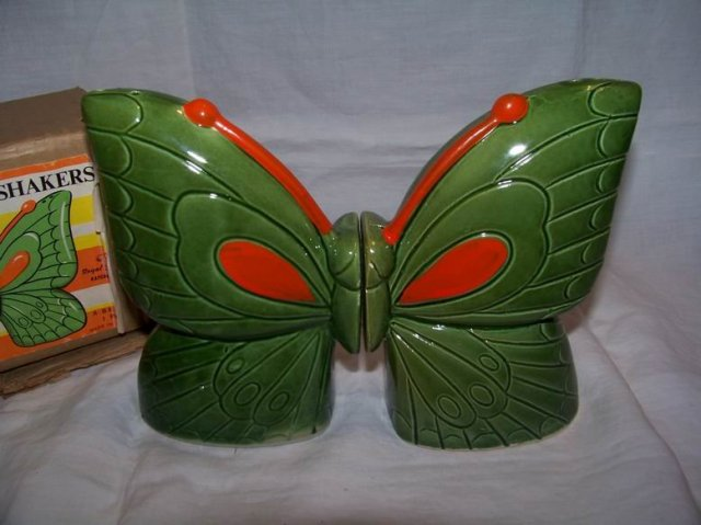 Royal Sealy Butterfly Salt and Pepper