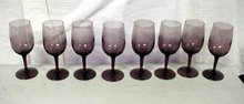 Purple Wine Glasses Set of 8 Small 6