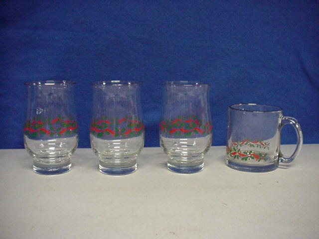 Libbey Christmas Glasses 12 Pieces