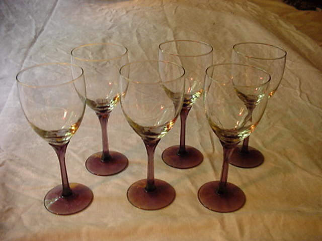 Libbey Domaine Purple Stem Wines Set of 6