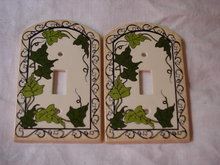 Light Switch Covers Vintage Ivy Set of 2
