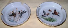 Ashtrays Mallard Ducks and Quail with English Setter