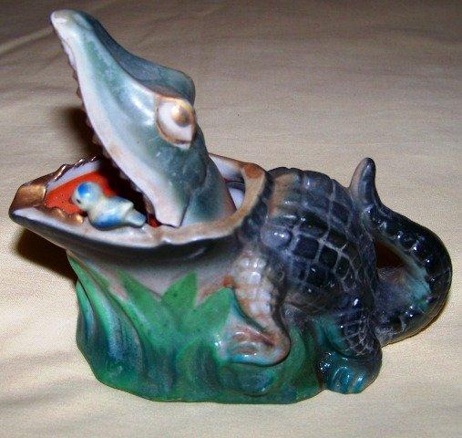Vintage Alligator Ashtray Smokeless Japan