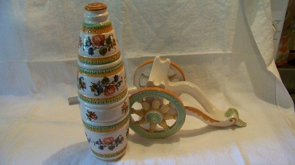 Vintage Wine Decanter Cannon on Wheels
