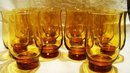 Libbey Tulip in Amber 14 Pieces 14 Ounce Size