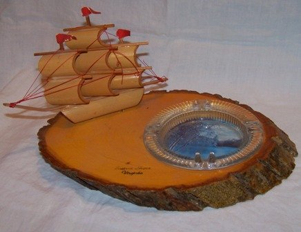 Eastern Shore Virginia Ship Ashtray