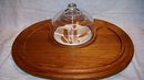 Teak Cheese Tray by Goodwood Covered