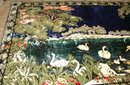 Tapestry Made in Italy Swans on Pond