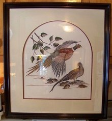 Pheasants Signed by Linda Cullens Limited Edition