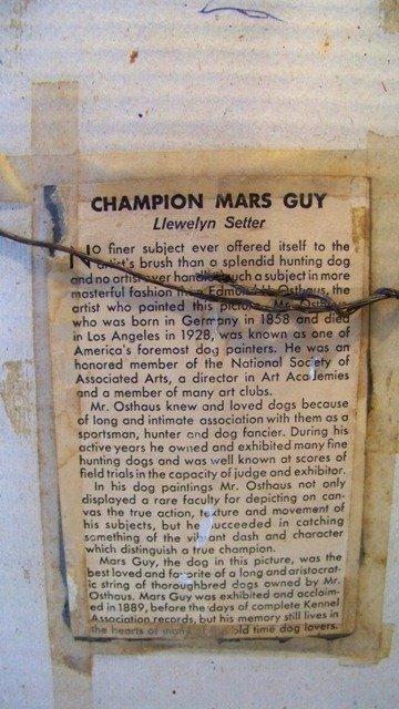 Edmund Osthaus Mars Guy Llewelyn Setter