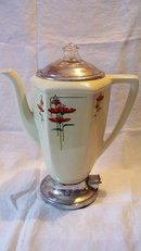 Royal Rochester Coffee Pot Poppies Pattern