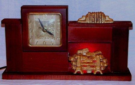 United Clock Corp. Brooklyn, NY Fireplace