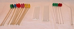 Glass Stir Sticks and Float Spoons 28 Pieces