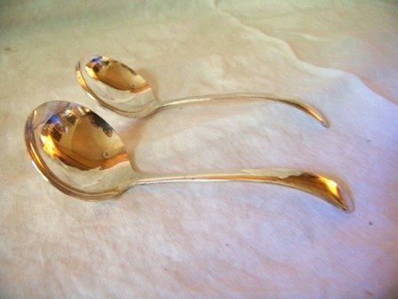 Two Small Ladles Silverplate Made in England Meridian